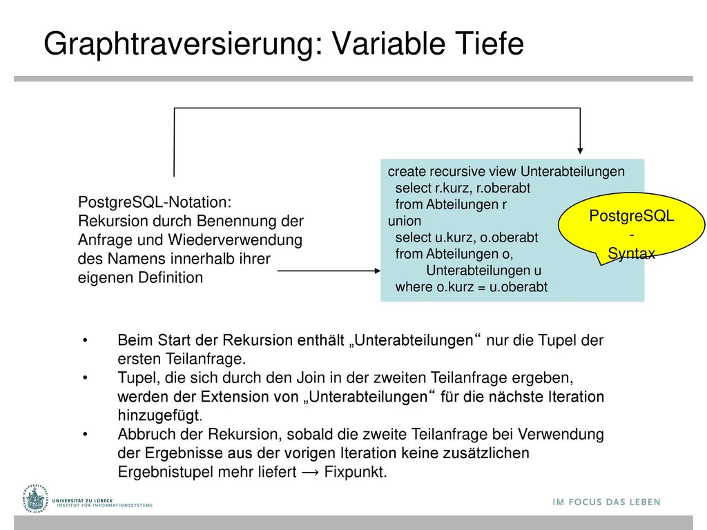 Graphtraversierung: Variable Tiefe