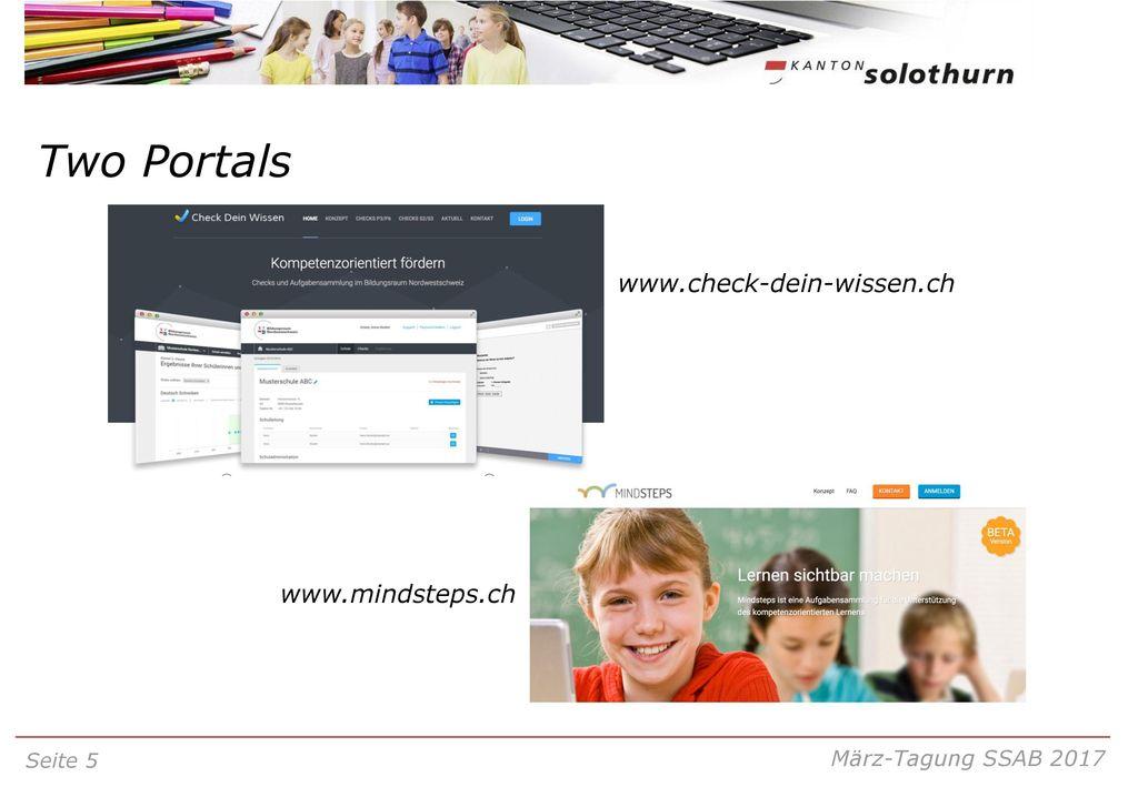 Two Portals www.check-dein-wissen.ch www.mindsteps.ch