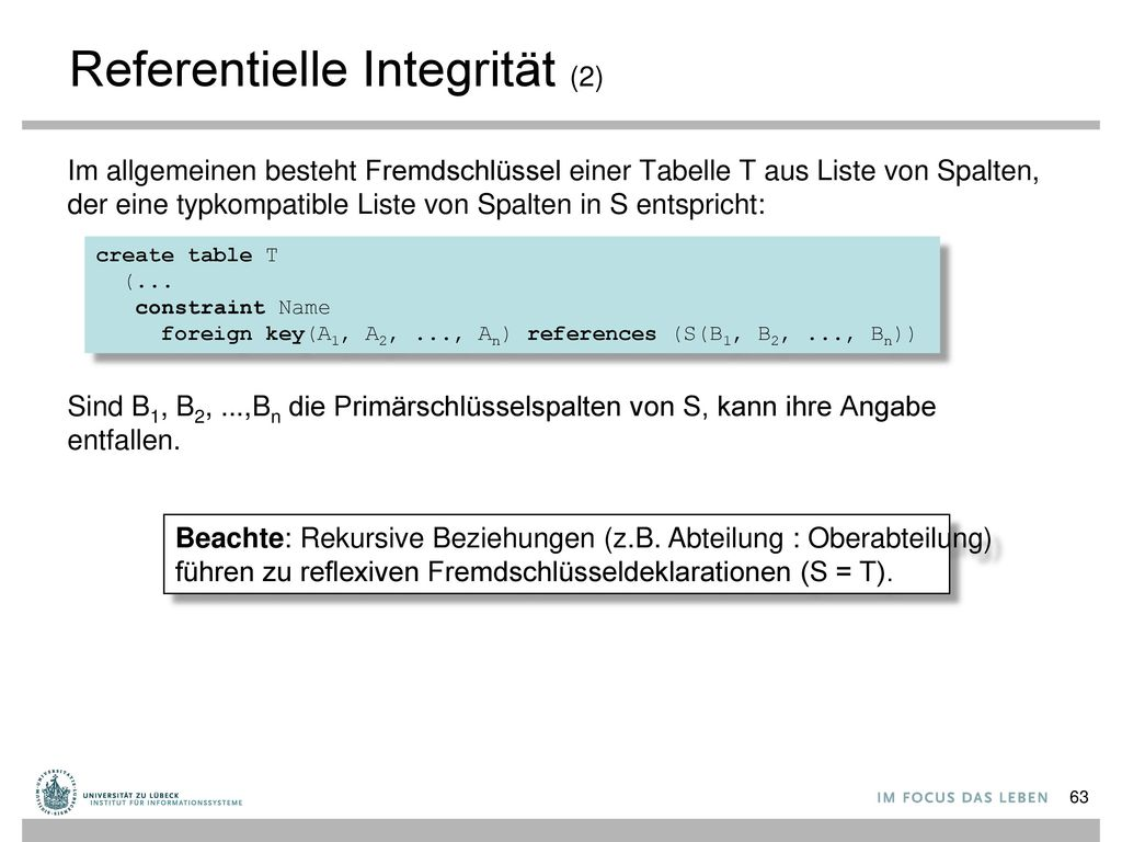 Referentielle Integrität (2)