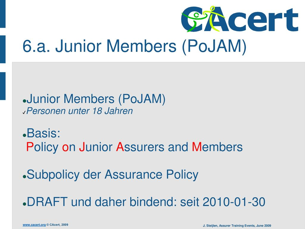 6.a. Junior Members (PoJAM)