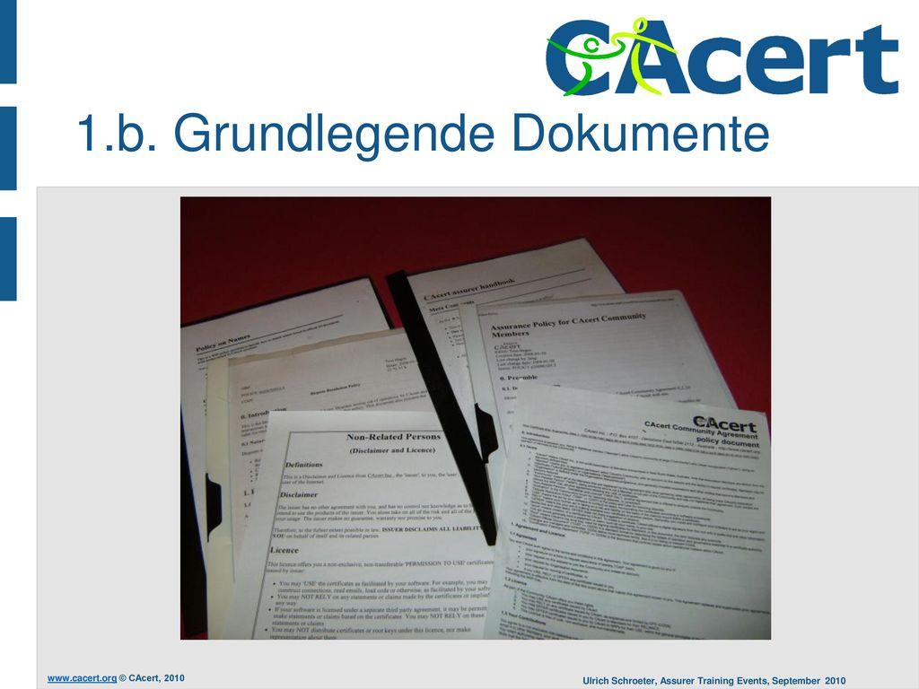 1.b. Grundlegende Dokumente