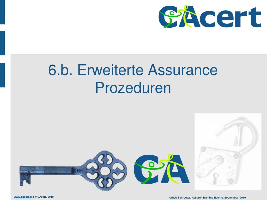 6.b. Erweiterte Assurance Prozeduren