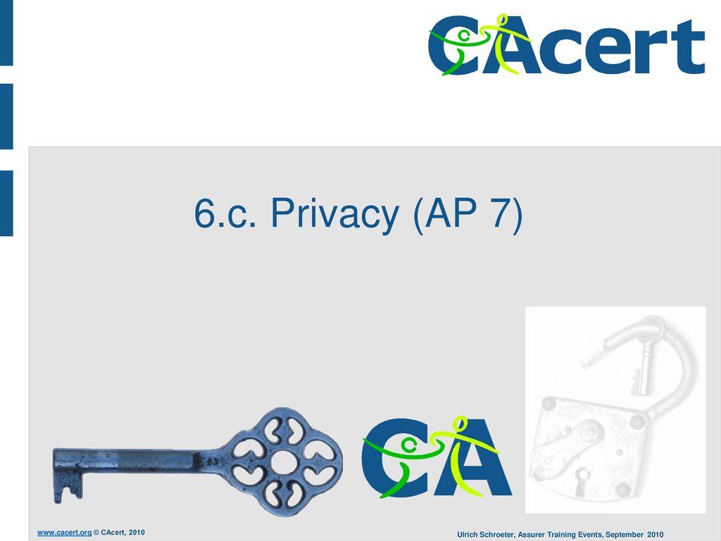 6.c. Privacy (AP 7)