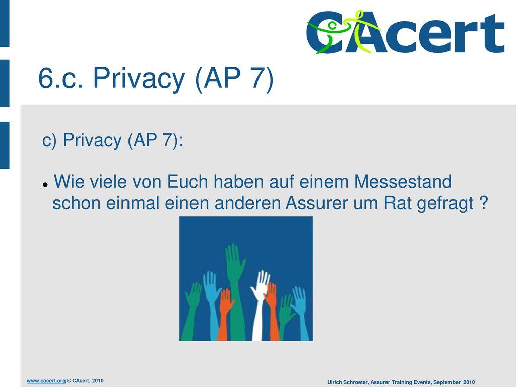 6.c. Privacy (AP 7) c) Privacy (AP 7):