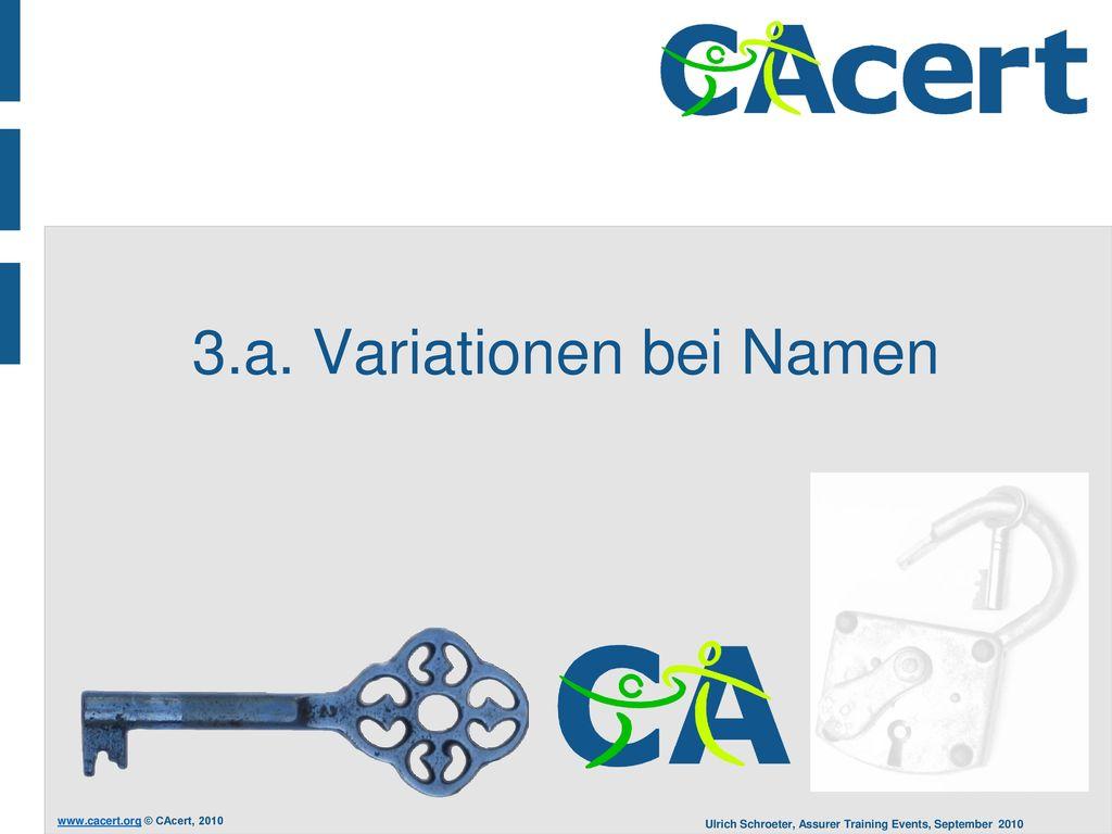 3.a. Variationen bei Namen