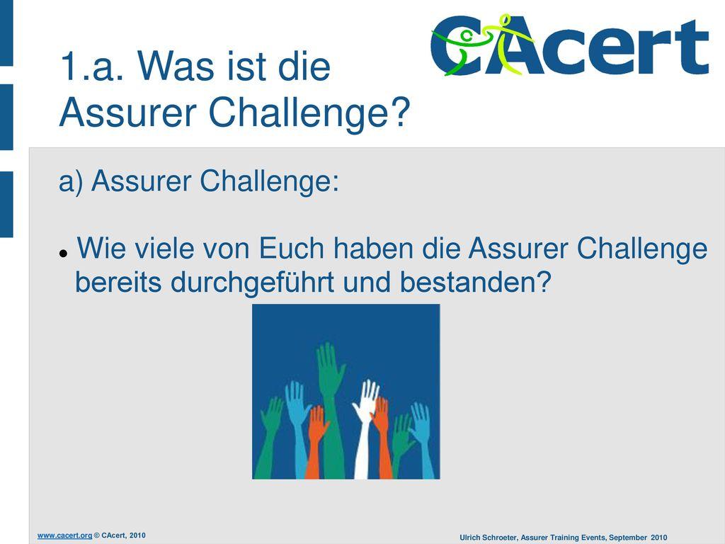 1.a. Was ist die Assurer Challenge