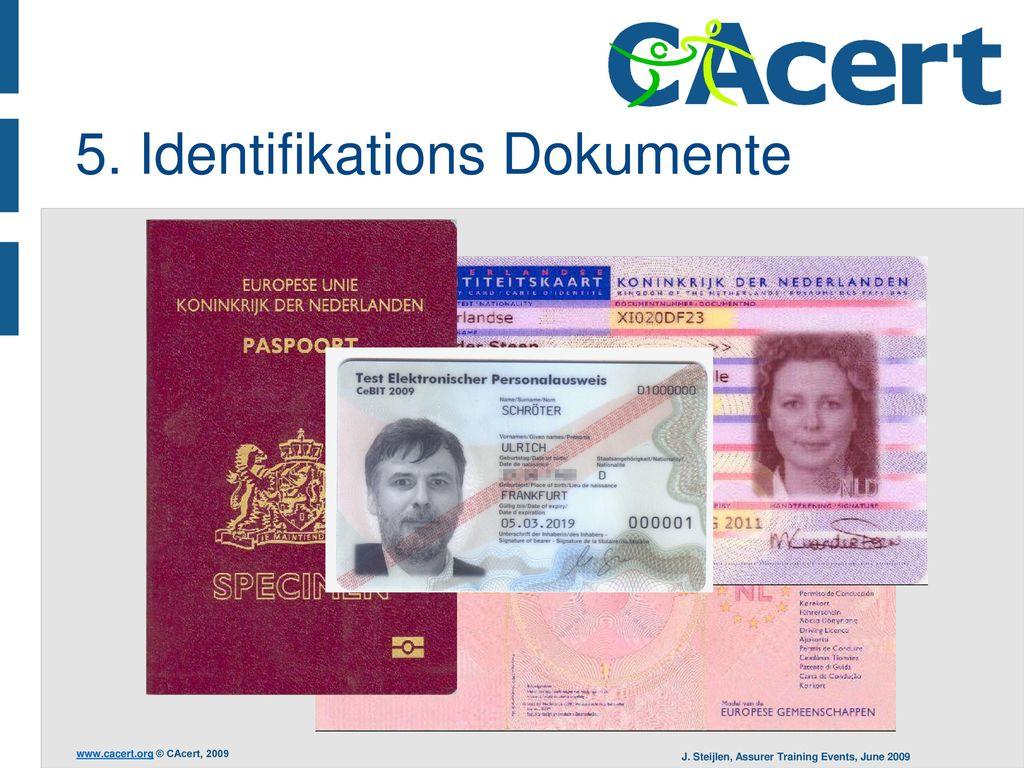 5. Identifikations Dokumente