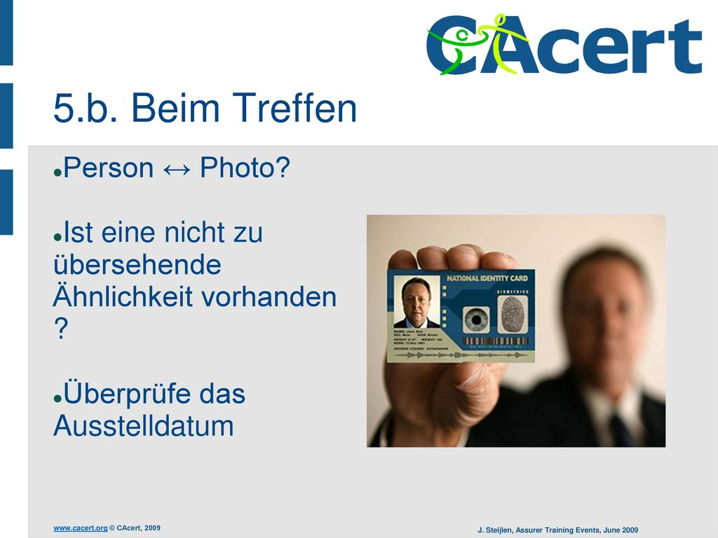 5.b. Beim Treffen Person ↔ Photo