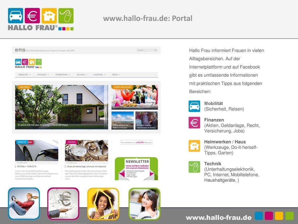 www.hallo-frau.de: Portal