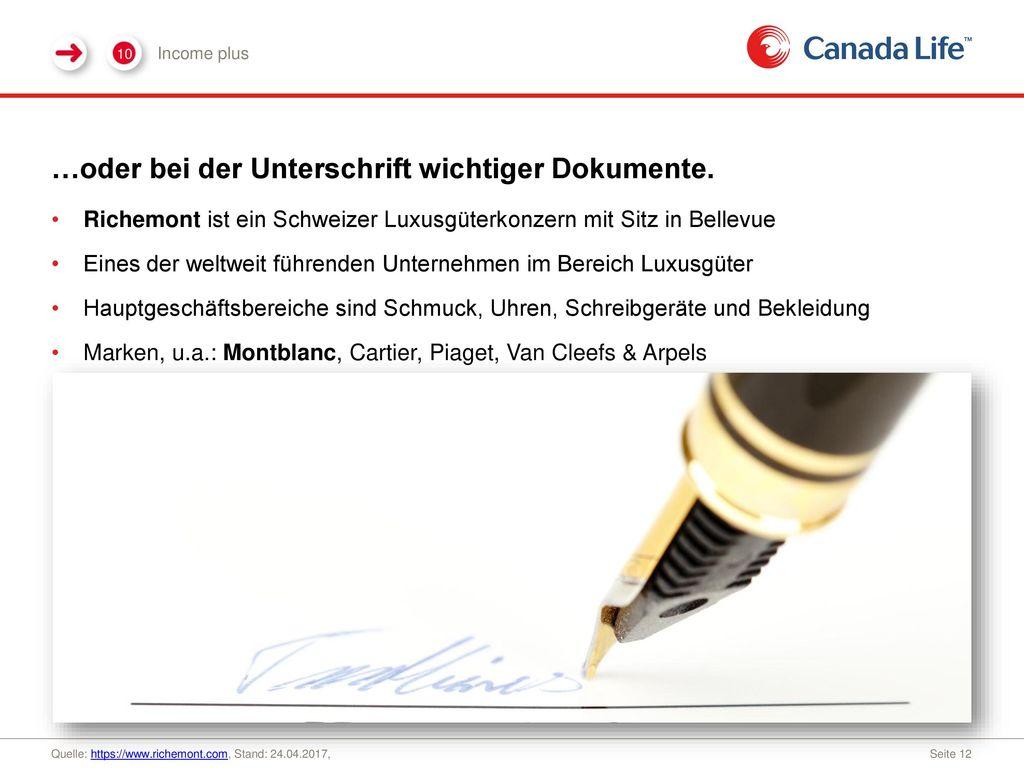 …oder bei der Unterschrift wichtiger Dokumente.