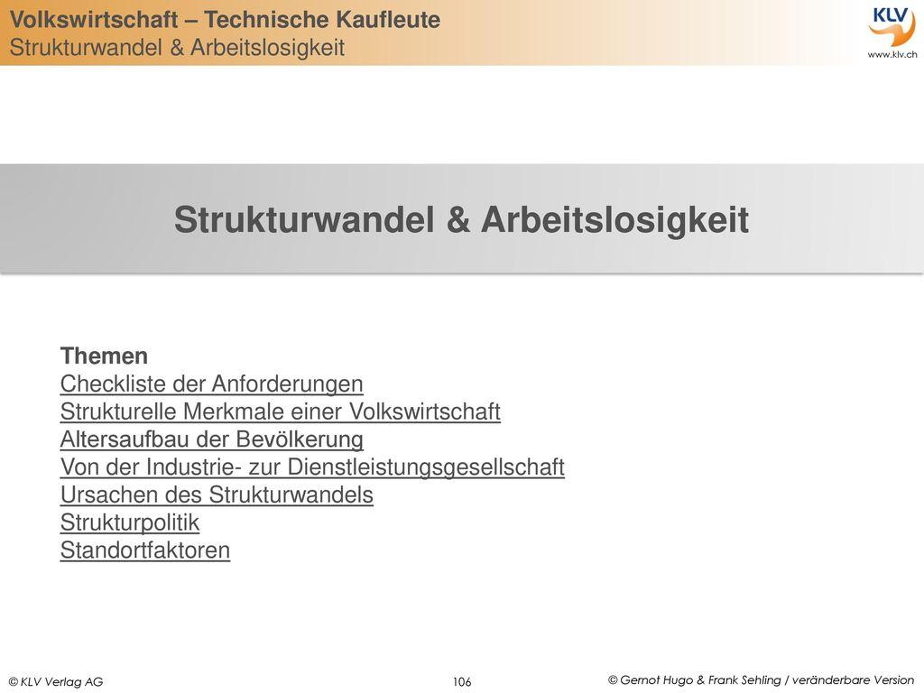 Strukturwandel & Arbeitslosigkeit
