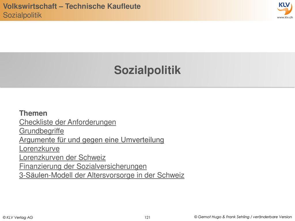 Sozialpolitik Themen Checkliste der Anforderungen Grundbegriffe