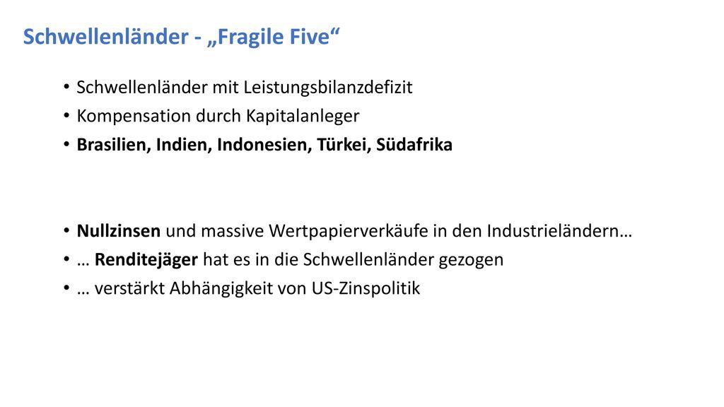 """Schwellenländer - """"Fragile Five"""