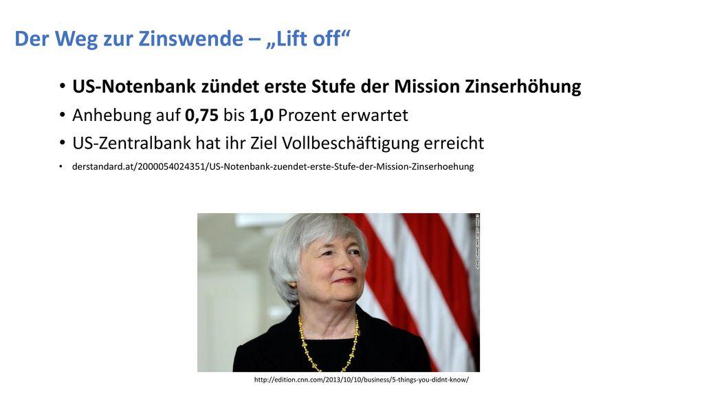 """Der Weg zur Zinswende – """"Lift off"""