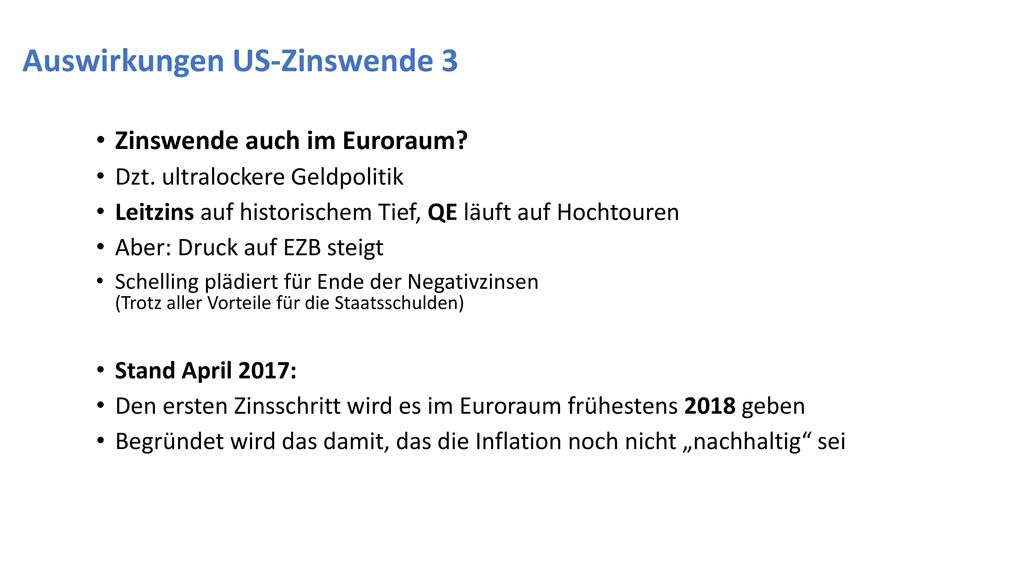 Auswirkungen US-Zinswende 3
