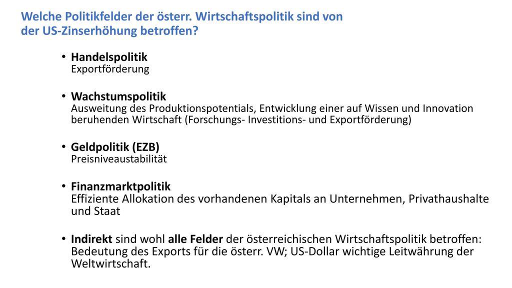 Welche Politikfelder der österr