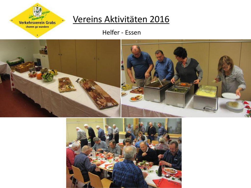 Vereins Aktivitäten 2016 Helfer - Essen