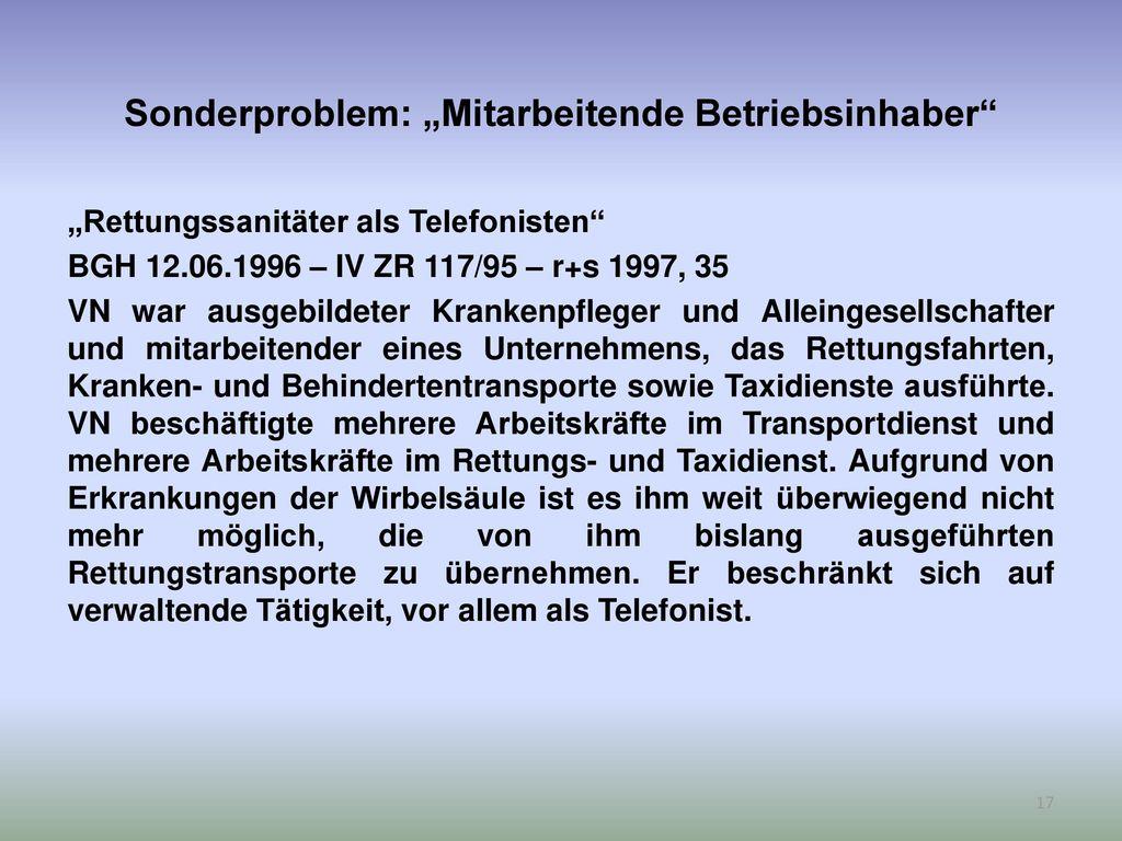 """Sonderproblem: """"Mitarbeitende Betriebsinhaber"""