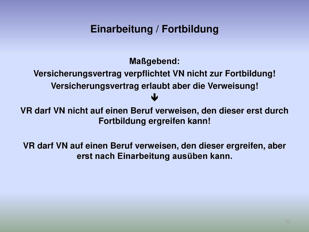 Einarbeitung / Fortbildung