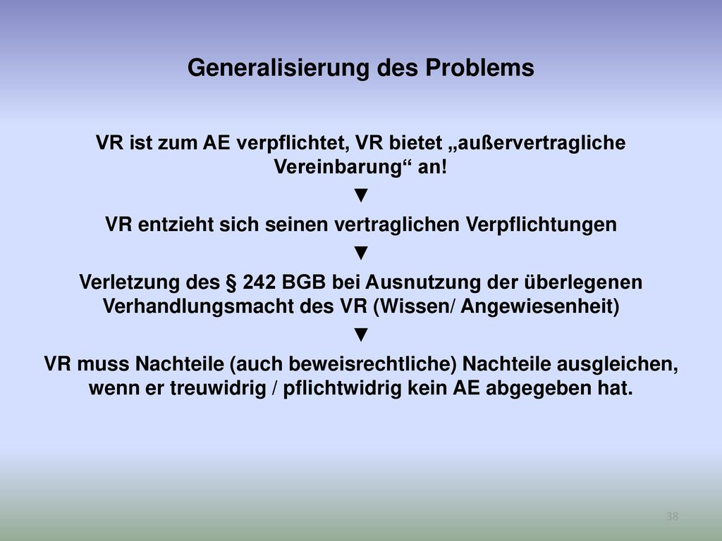 Generalisierung des Problems