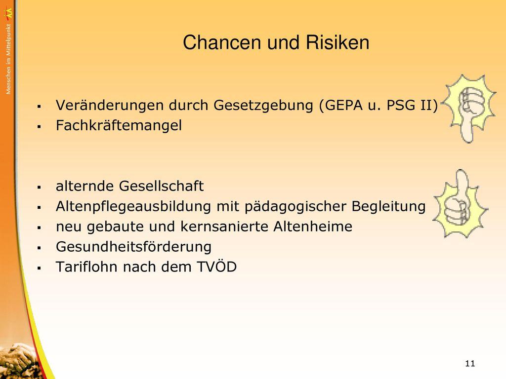 Chancen und Risiken Veränderungen durch Gesetzgebung (GEPA u. PSG II)