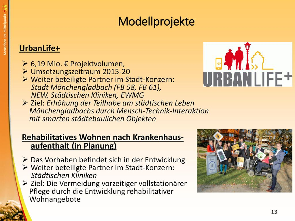 Modellprojekte UrbanLife+