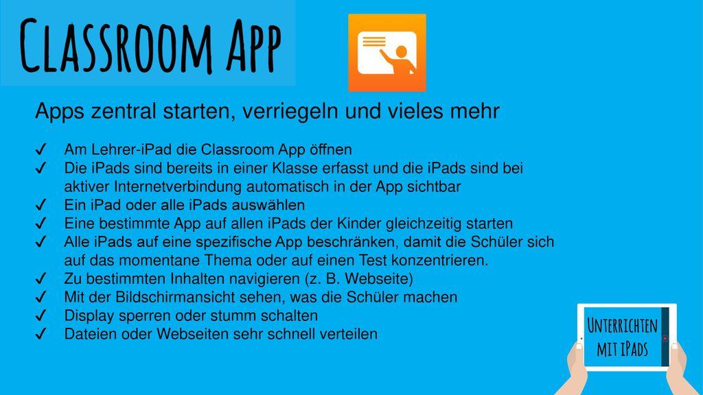Apps zentral starten, verriegeln und vieles mehr