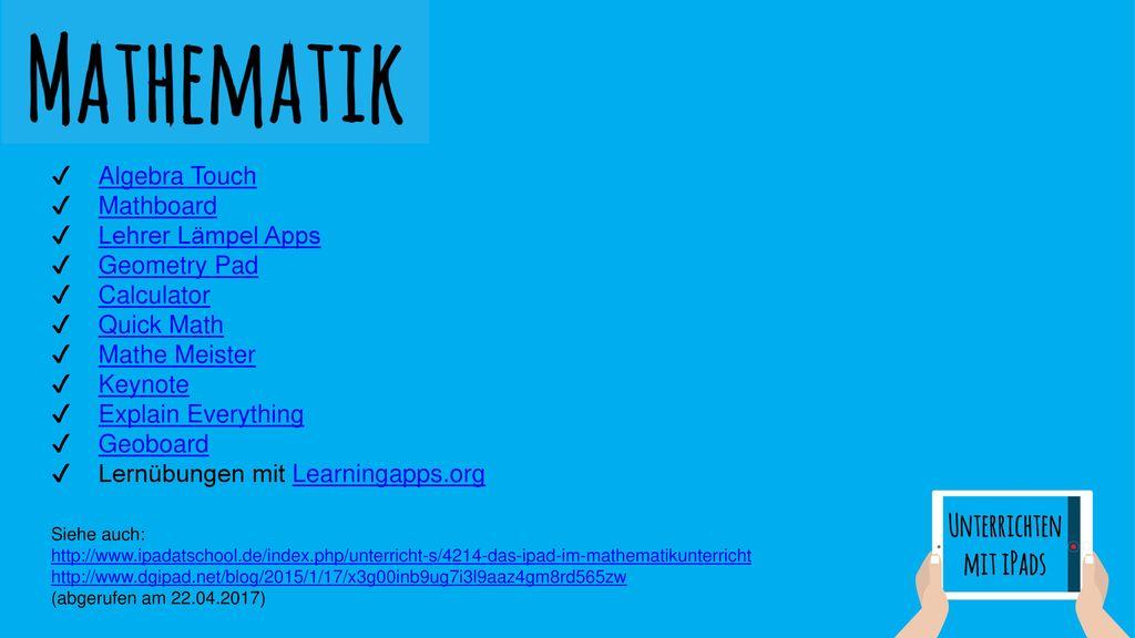 Lernübungen mit Learningapps.org