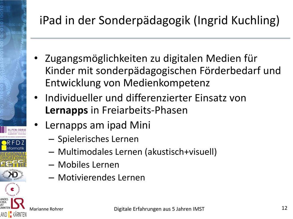 iPad in der Sonderpädagogik (Ingrid Kuchling)