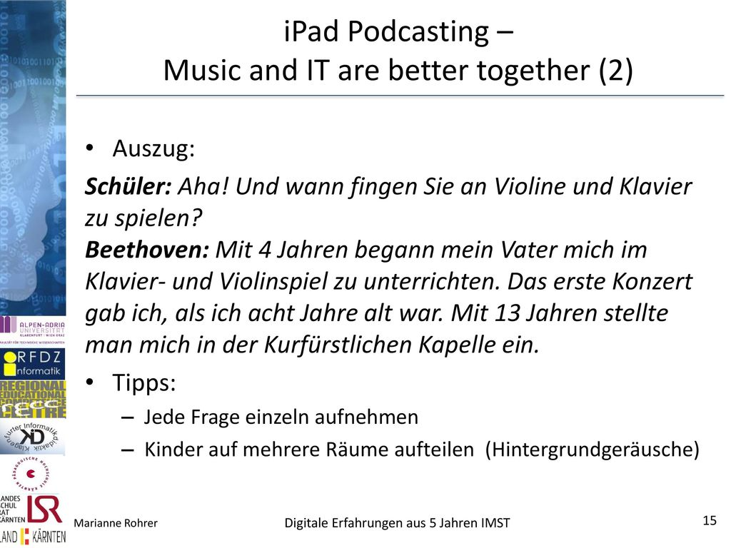 iPad Podcasting – Music and IT are better together (2)