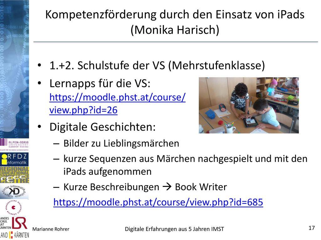 Kompetenzförderung durch den Einsatz von iPads (Monika Harisch)