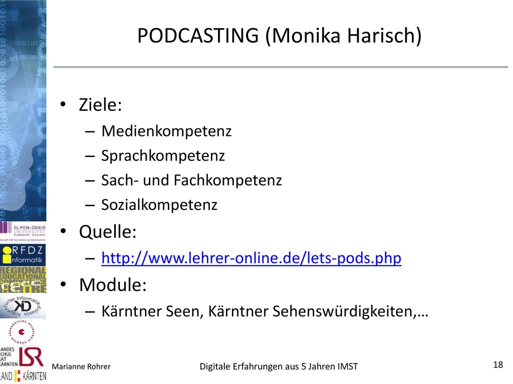 PODCASTING (Monika Harisch)