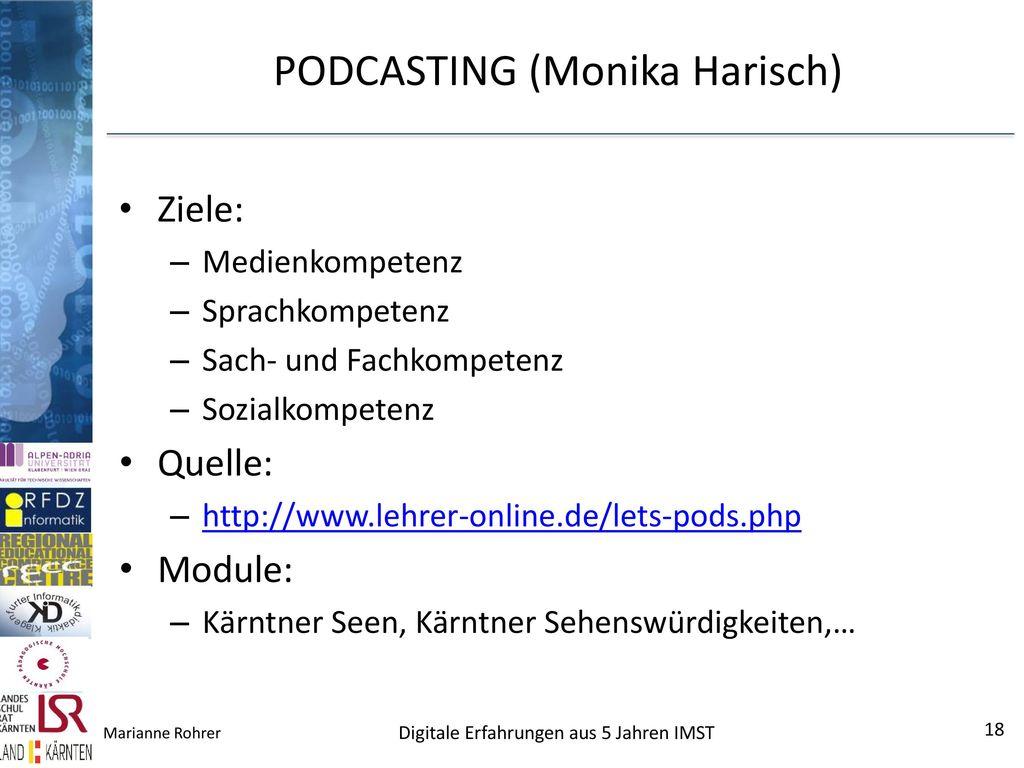 PODCASTING (Monika Harisch)