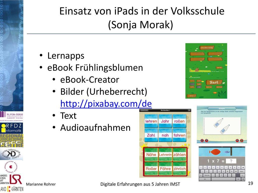 Einsatz von iPads in der Volksschule (Sonja Morak)