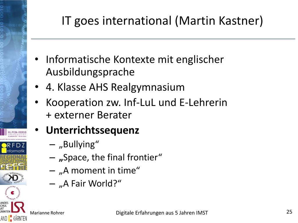 IT goes international (Martin Kastner)