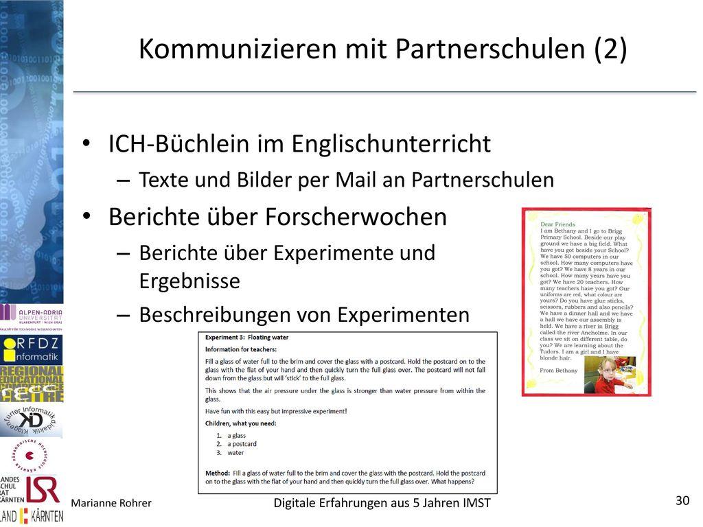 Kommunizieren mit Partnerschulen (2)