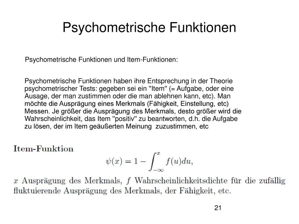 Psychometrische Funktionen