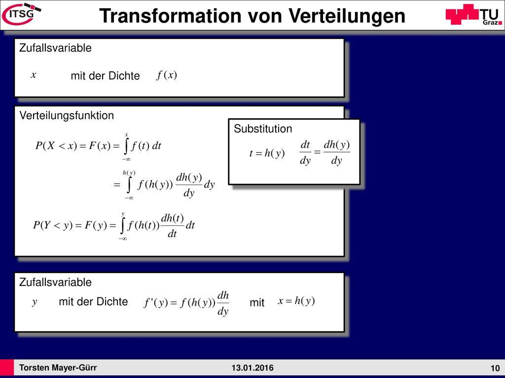 Transformation von Verteilungen