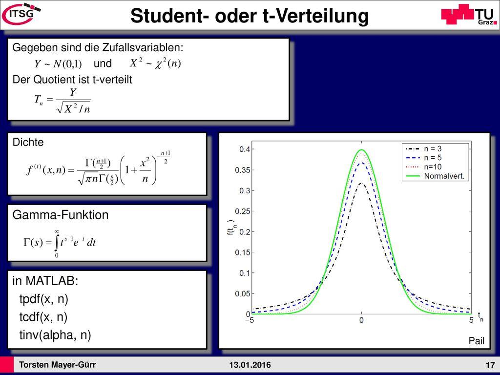 Student- oder t-Verteilung