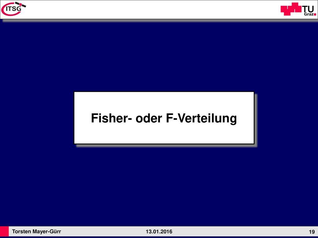 Fisher- oder F-Verteilung