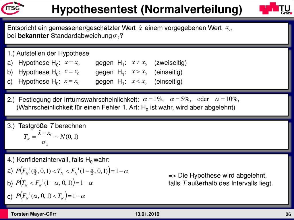 Hypothesentest (Normalverteilung)