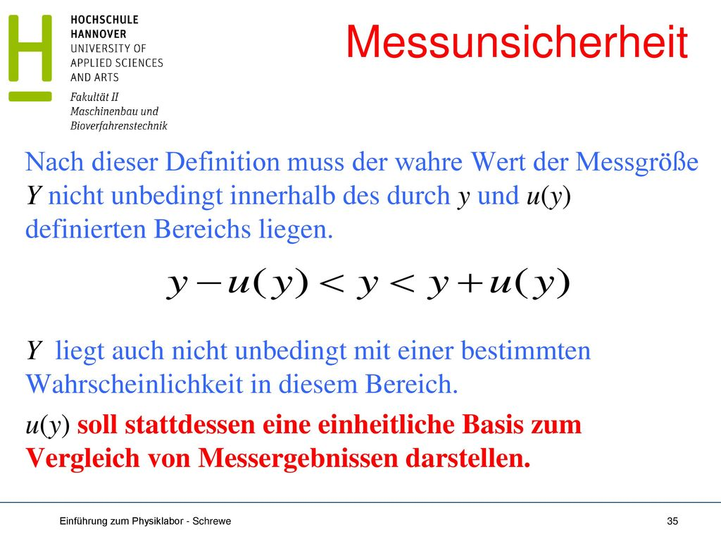 Messunsicherheit