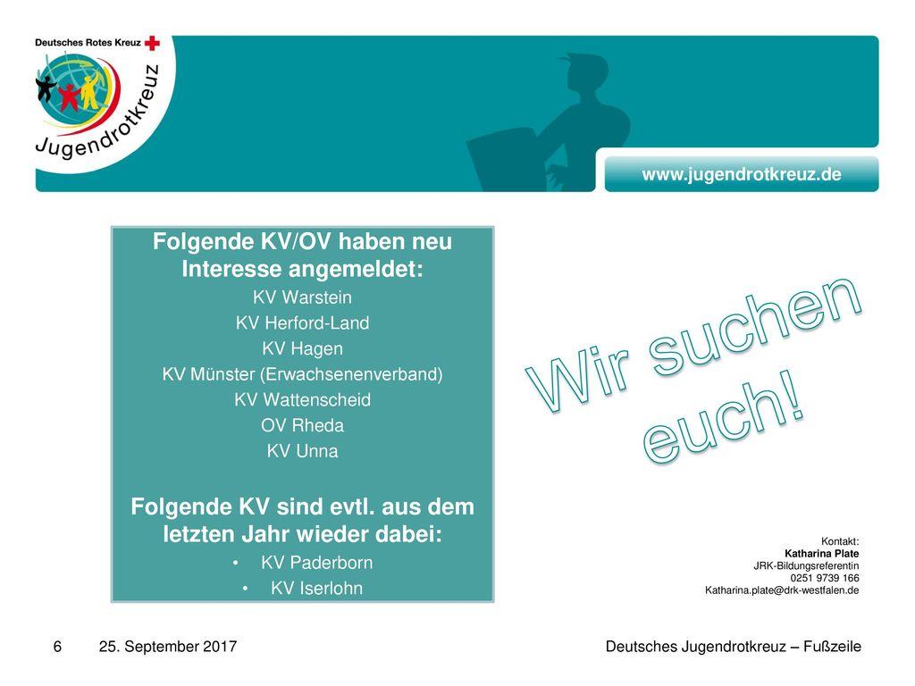 Wir suchen euch! Folgende KV/OV haben neu Interesse angemeldet: