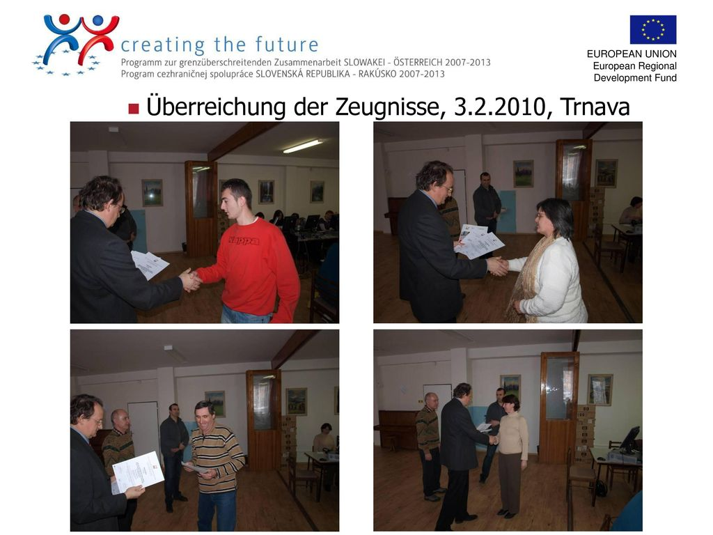 Überreichung der Zeugnisse, 3.2.2010, Trnava