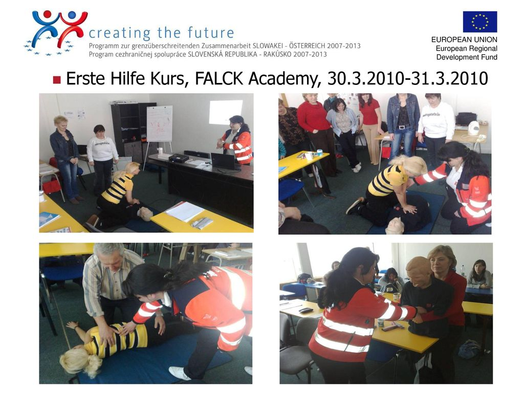 Erste Hilfe Kurs, FALCK Academy, 30.3.2010-31.3.2010