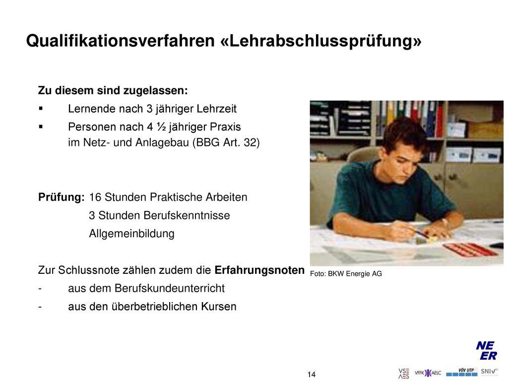 Qualifikationsverfahren «Lehrabschlussprüfung»