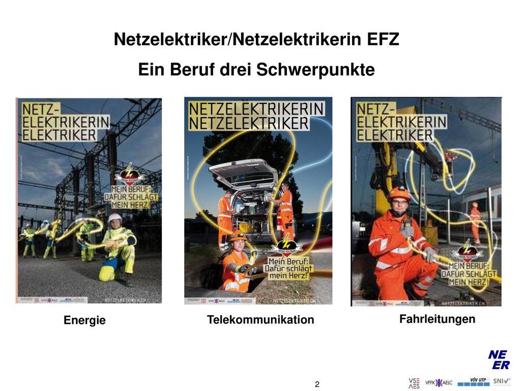 Netzelektriker/Netzelektrikerin EFZ Ein Beruf drei Schwerpunkte