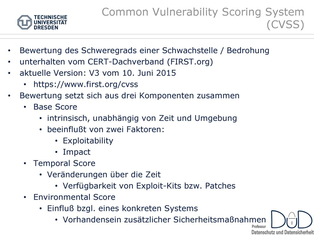 Common Vulnerability Scoring System (CVSS)