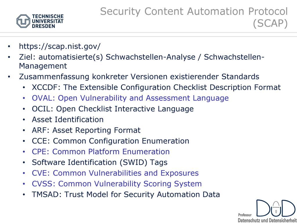 Security Content Automation Protocol (SCAP)