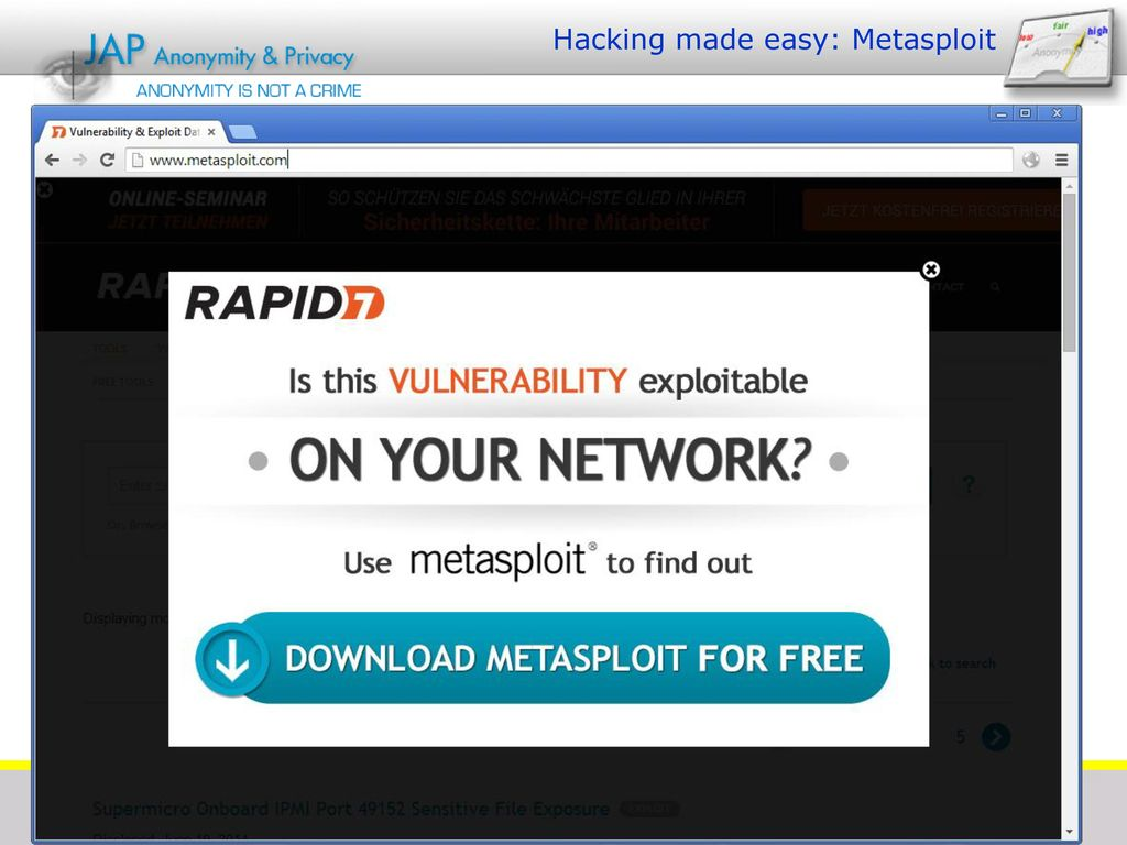 Hacking made easy: Metasploit